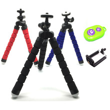 1pcs Flexible Holder Octopus Tripod / Selfie Stick/Remote Control Bracket Stand Mount Monopod for Gopro 3 4 for iPhone Huawei(China)