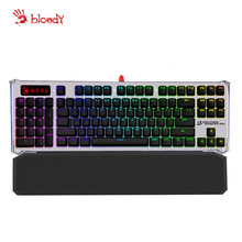 A4tech Bloody B845R Mechanical Keyboard RGB adjustable USB Wired Green Axis Black Axis Gaming keyboard LEFT-NUM for left hand