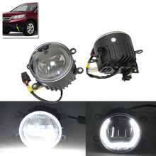 Direct Fit For Honda Accord Civiv Crosstour CR-V CR-Z Insighe Pilot Fit Jazz Car Styling Front Led Fog DRL Light Assembly Kit