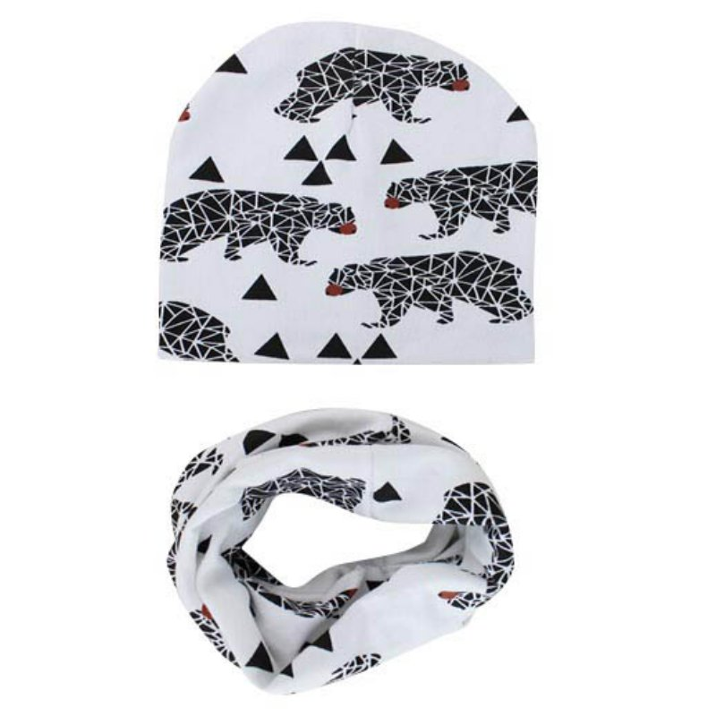 New StyleBeautiful Stars Baby Hat Cotton Scarf Infant Hats Set Child Caps Scarf Baby Cap for Autumn WinterÎäåæäà è àêñåññóàðû<br><br><br>Aliexpress