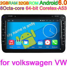 Octa Core android 6.0 car dvd gps navigation PC for skoda VW volkswagen amarok beetle bora caddy CC EOS jetta polo rabbit sharan(China)