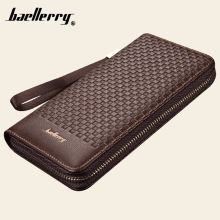 Baellerry Designer Men High Capacity Long Wallet Card Holder PU Leather Coin Purses Male Clutch Bag Money Zipper Pocket Pochette(China)