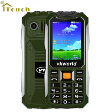 "Original 2.4"" VKWorld Stone V3S Long Standby Daily Waterproof Shockproof Mobile Phone Dual SIM Bluetooth Russian Keyboard"