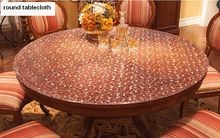Hotel household round tablecloth soft glass transparent PVC tablecloth  thickness 2mm