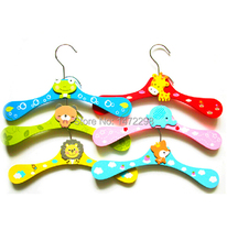 Colorful Pet Cat Dog Fashion Clothes Catoon Animal Wooden Hanger(China)