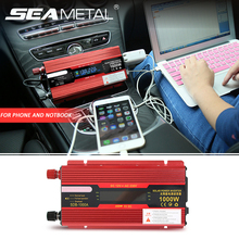 Car Inverter 2000W 1000W 12v 220v Universal Power Inverters DC AC Voltage Converter Auto Adapter LED Display Charger Accessories(China)