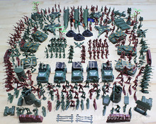 307PCS/set Military World War II sand table model  soldier plastic toys for model makings toys