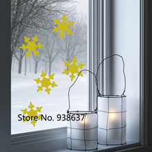 32 pcs Christmas Snowflake Window Stickers Shop Home Warm Decoration Vinyl Waterproof Wall Decals Christmas Wall Sticker ZB059