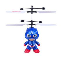11 Styles Cartoon Movie RC Aircraft Induction Helicopter Spider Man Doraemon Captain America Model Toys Kid Toys(China)