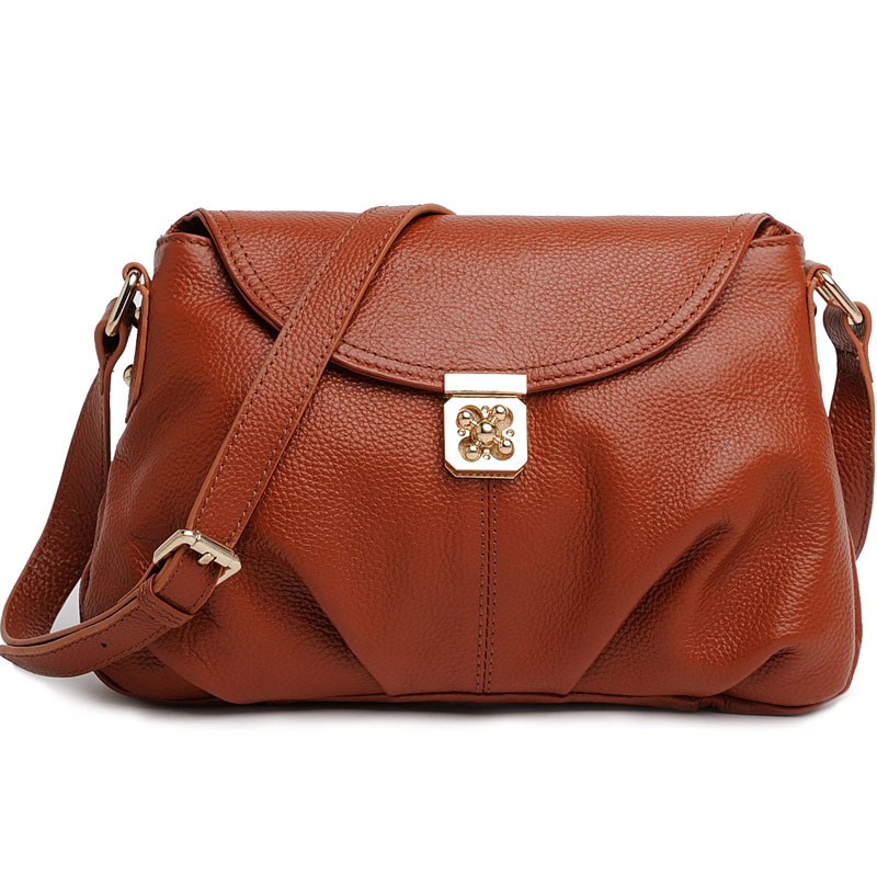 2017 High Quality First layer cowhide leather Women Top-handle Bag  Women Messenger Bag Girls Shoulder Bag Fashion Women Bags<br>