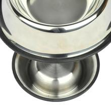 New 22cm Pet Dog Puppy Cat Food or Drink Water Bowl Dish Stainless Steel Standard(China)