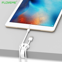 FLOVEME Cable Wire Desktop Solid Line Power Cord Data Line Hub Holder Cable Wire Organizer Cable Clip USB Charger Cord Holder