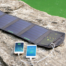 Allpowers 5V 18W Super High Power Sunpower Solar Panel Charger Dual Hidden USB Ports High Efficiency Conversion Rate