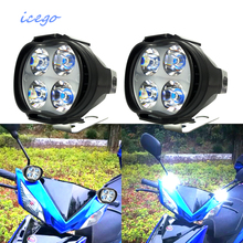 Super Bright 1000Lm Motorcycles Led Headlight Lamp Scooters Fog Spotlight 6500K White Working Spot Light 9-85V Rated 4.9 /5 base