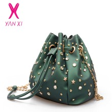 YANXI 2017 New Factory Outlets PU Fashion Luxury Designer Shoulder Messenger Bucket Bags Handbags Crossbody Bags For Women