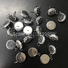 DIY little fragrance wind OL about 14N ear nails with a white K color retro black crystal jewelry(China)