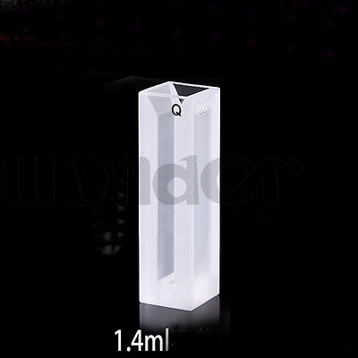 1400ul 4mm Inside Width Micro Quartz Cuvette Cell With Frosted Walls And Lid<br>
