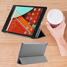 Nexus 9 tablet stands cover case - Ultra Slim smart book Cover for google nexus 9 tablet by htc leather case stand magnet(China)