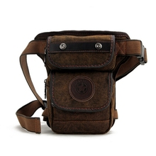 fashion canvas waist pack waterproof waist leg bag casual Fanny pack belt bag men thigh holster bag military bum hip pouch