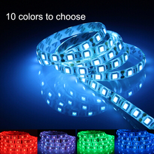 12V rgb led strip waterproof ip65/non 5050 SMD diode led ribbon LAMP 60leds/m Indoor Decorative Tape string rgb white blue(China)