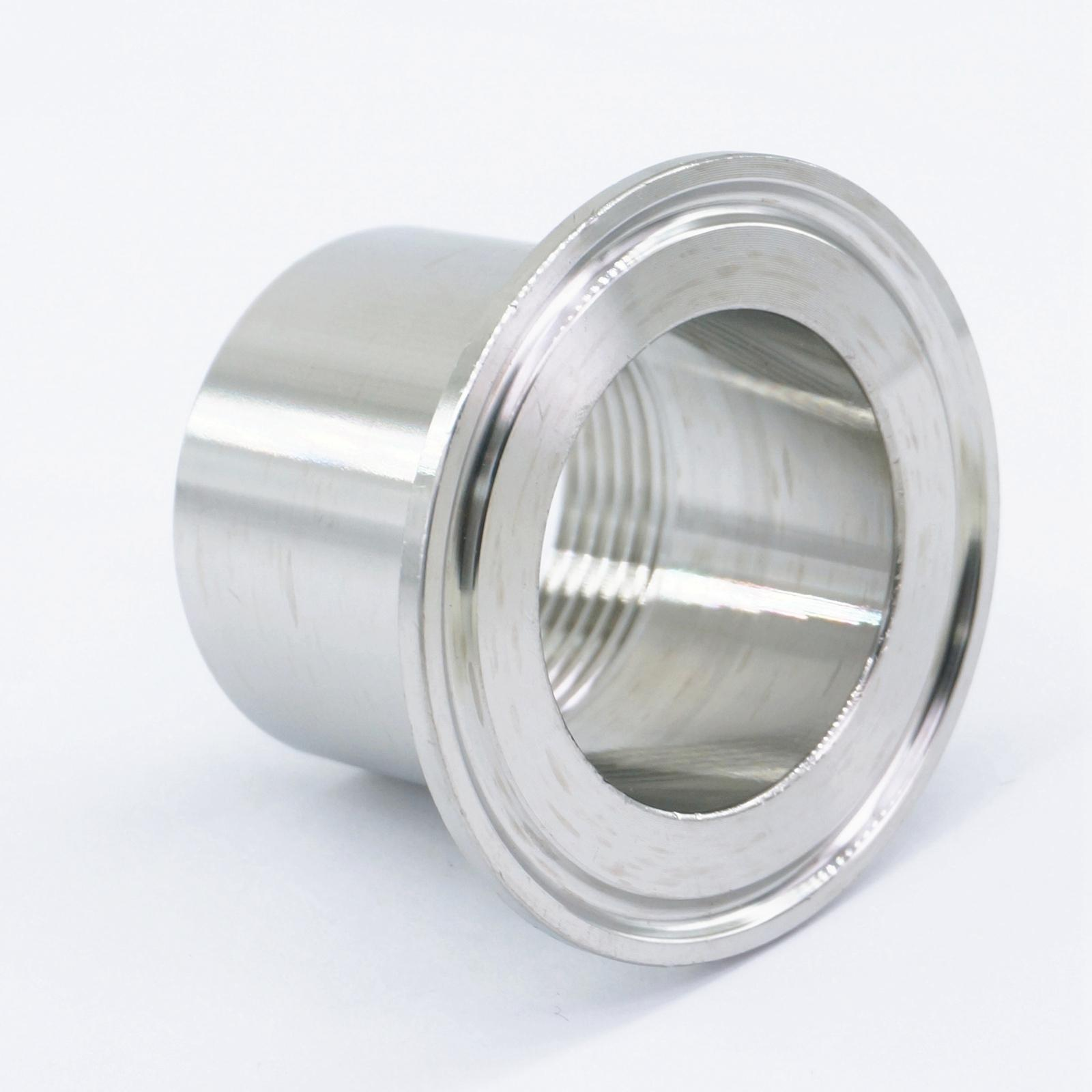 1.5 304 Stainless Steel Sanitary Short Ferrule Tri-Clamp Fitting