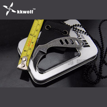 KKWOLF neck Knife key pocket gift EDC Tool Knife defensive Necklace Keychain knife Outdoor karambit knife survival tactical claw(China)
