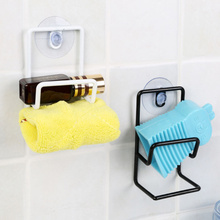 1Pcs Stainless Steel Towel Rail Hanger Bar Holder Over the Cabinet Cupboard Sponge Drain Rack Kitchen Accessories(China)