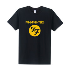 FF Foo Fighters T Shirt Men Summer Short Sleeve Cotton Casual O-neck FF Rock Band T-shirt Tops Free Shipping OT-170