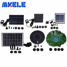 Small Solar Fountain Pump Yard Garden Landscape Pond Fish Pond Water Cycle Many Style Free Shipping(China)
