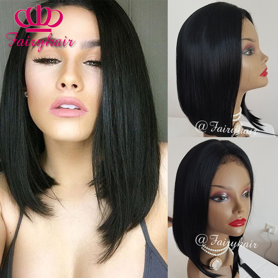 Short Straight Bob hair synthetic lace front wig glueless heat resistant synthetic lace front wig for black women bob wigs<br><br>Aliexpress