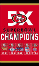san francisco 49ers 5x superbowl champions flag(China)