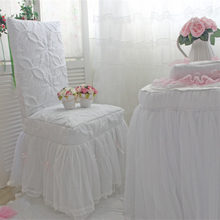 Custom chair cover Romantic tablecloth wedding decoration princess table cover lace skirt elegant chair cover home textile(China)