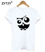 Baby Owl Print Women Tshirt Cotton Funny t Shirt For Lady Girl Top Tee Hipster Tumblr Drop Ship HH-302(China)