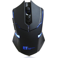 Wireless Mute Silent Gaming Mouse LED 7 Buttons 2.4GHz USB Receiver Gamer Mice for PC Laptop Desktop(China)