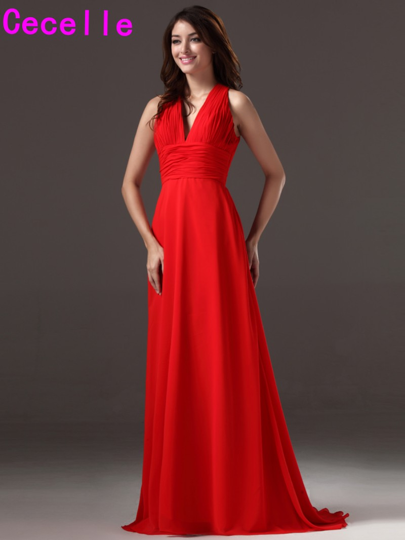 Compare prices on deep red bridesmaids dresses online shopping sexy deep v neck long beach formal bridesmaids dresses with straps floor length with strain red ombrellifo Choice Image