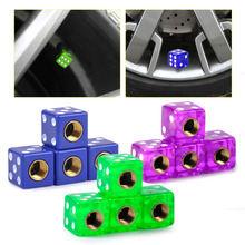4pcs/set Dice Tyre Cap Tire Air Valve Stem Caps Dust Cover Car Truck Auto Bike Motorcycle Wheel Rim Accessories