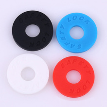 2pcs Guitar Strap Block Rubber Safety Lock Washer Acoustic Electric Guitar Bass Ukulele Accessories(China)