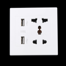 High Quality Dual USB Power Socket USB Port Electric Wall Charger Dock Socket Power Outlet Panel Plate
