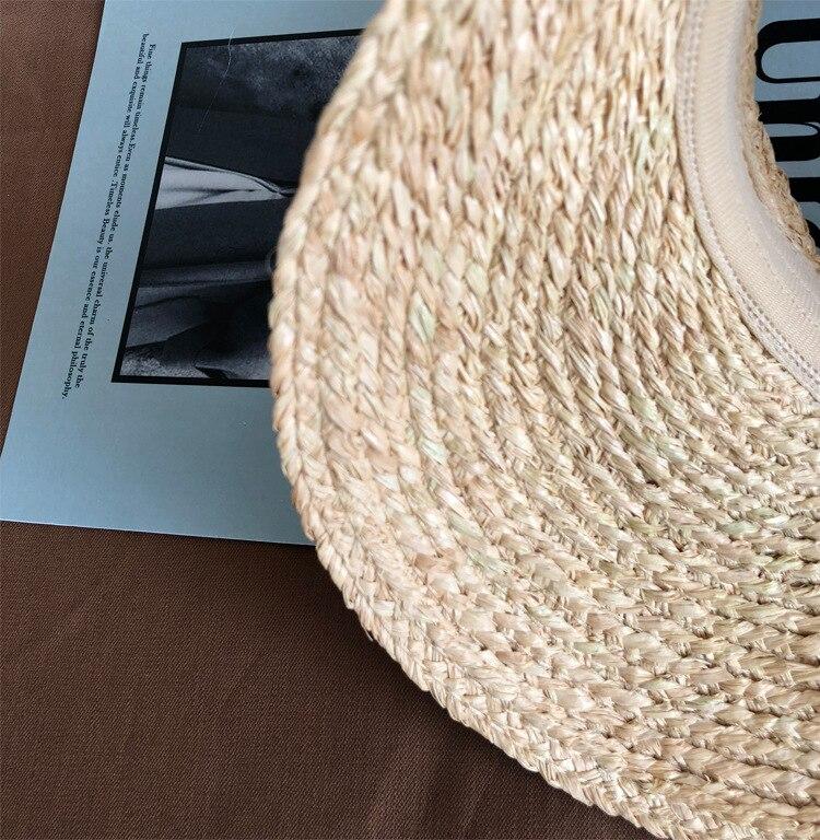 ladies uv roll up korean sun visor hat women sun visor straw sun visor caps (9)