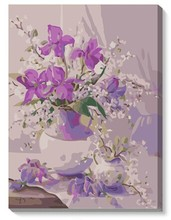 MaHuaf-X098 purple flower vase 40x50cm painting by numbers on canvas on the frame Unique lover Gift For Home Decor Wall Artwork