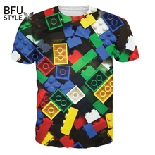 Hipster Fashion Unicorn Summer Style Lego Brick T-Shirt Children Toy Women Men Large Size 3D Print T Shirt Camisetas Dropship