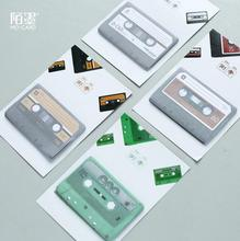 Retro Tapes Mini Memo Pad N Times Sticky Notes Escolar Papelaria School Supply Bookmark Post it Label