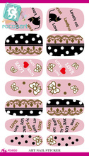 Rocooart K5650 Nail Sticker Cute Hello Kitty Design Manicure Decals Minx Nails Decoration Tools Water Transfer Nail Sticker
