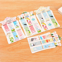 6 pcs/lot Cute Kawaii Animal Paper Bookmark Lovely Flower Magnetic Book Marks Korean Stationery Free Shipping 2445