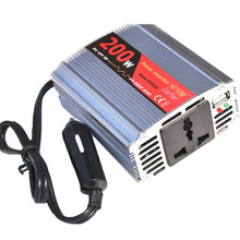 SUVPR DC 12V to AC 220V car inverter 200W inversor power voltage converter with USB port for laptop charger adapter()