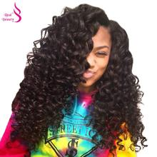Real Beauty Brazilian Hair Weave Bundles Deep Wave Remy Human Hair Bundles Natural Color Hair Extensions Can Be Dyed(China)