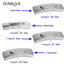 FUNIQUE 1PC Stainless Steel Arc Plain Magnetic Lock Clasp For Leather Bracelet DIY