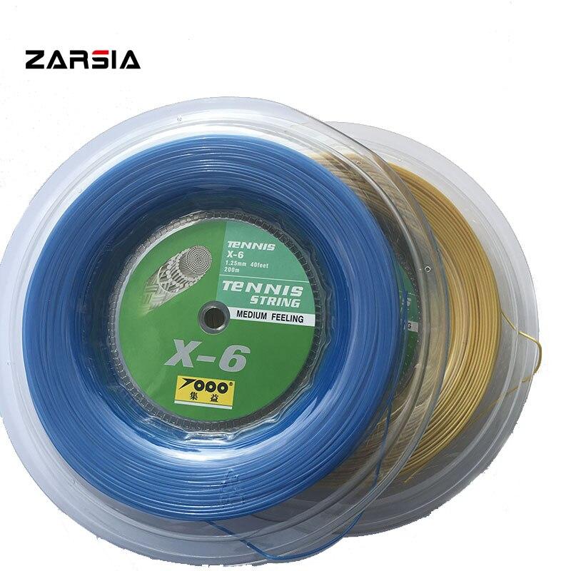 TOPO X-6 Polyester Tennis Racket String 1.25mm Tennis Racquet hexagon Strings 200M big banger,durable strings<br>