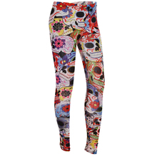 2016 Punk Style Women Ankle Length Skeleton Skull Flower Legging Halloween Club Party Gifts For Female Sexy Leggings Clothes