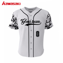 Kawasaki Brand Original Custom Grey Camo Baseball Jerseys Top 100%Polyester Fans Kids & Adults Practice Softball Jersey Shirts